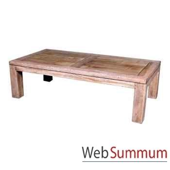 Table basse en bois naturel vieilli fabriqué en Indonésie Meuble d'Indonésie -56775NV