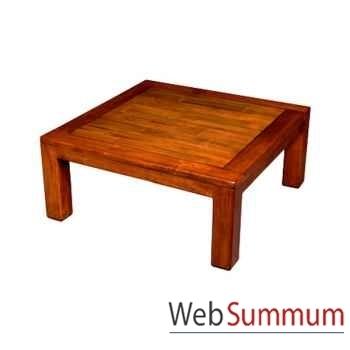 Table basse en bois ciré fabriqué en Indonésie Meuble d'Indonésie -56776CI