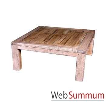Table basse en bois naturel vieilli fabriqué en Indonésie Meuble d'Indonésie -56776NV