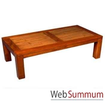 Table basse en bois ciré fabriqué en Indonésie Meuble d'Indonésie -56782CI