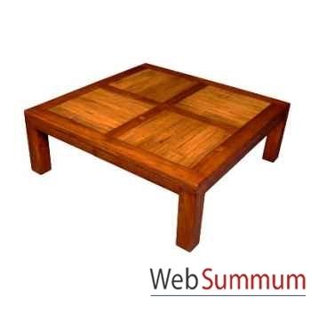 Table basse en bois cire fabriqué en Indonésie Meuble d'Indonésie -56783CI