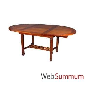 Table ronde avec rallonge papillon Meuble d'Indonésie -54352P