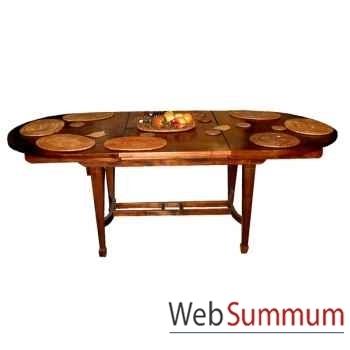 Table ovale avec rallonge papillonBois : Teck Meuble d'Indonésie -54353P