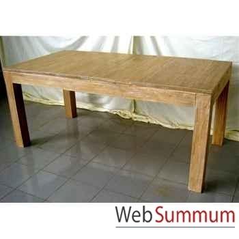 Table rectangulaire avec rallonge Meuble d'Indonésie -57056
