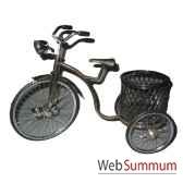 tricycle coockies en laiton artisanat indonesien 6917