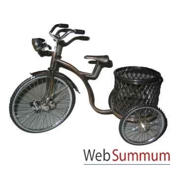 Tricycle coockies en laiton. artisanat Indonésien -6917