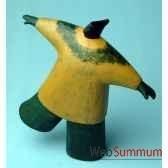 objet de decoration homme sur un pied bois polychrome artisanat indonesien 13768