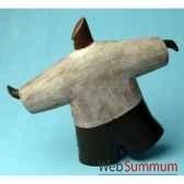 objet de decoration gros homme sur un pied bois polychrome artisanat indonesien 13770
