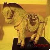 sculpture chevapolychrome sur socle artisanat indonesien 26998