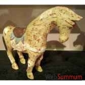 sulpture chevaocre polychrome artisanat indonesien 27057