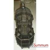 cage cathedrale noire pour oiseau artisanat indonesien 32365n