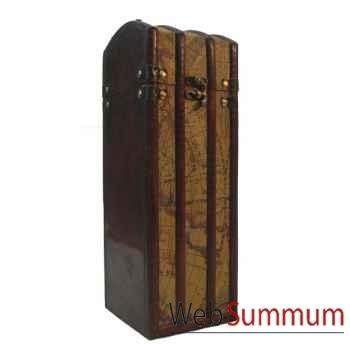 Porte bouteille bois et pvc pour une bouteille artisanat Chine -c47661