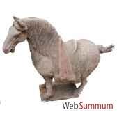 sculpture chevatang criniere en terre cuite artisanat chine c67031