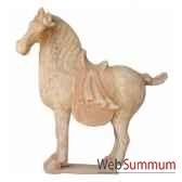 sculpture chevatang terracotta petit modele artisanat chine cer012