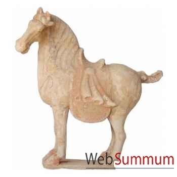 Sculpture cheval tang terracotta petit modèle artisanat Chine -cer012