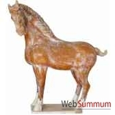 sculpture chevatang vernisse couleur ocre artisanat chine cer014 o
