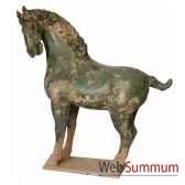 sculpture chevatang vernisse couleur vert artisanat chine cer014 v
