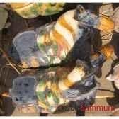 sculpture chevavernisse harnache artisanat chine cer048