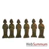 5 musiciennes en terre cuite artisanat chine cer063