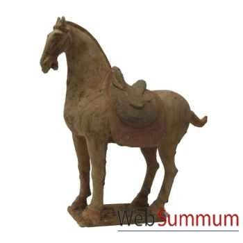Sculpture cheval en terre cuite artisanat Chine -cer069