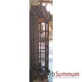 cage hexagonale en bois style vieux tek artisanat thai tai0790