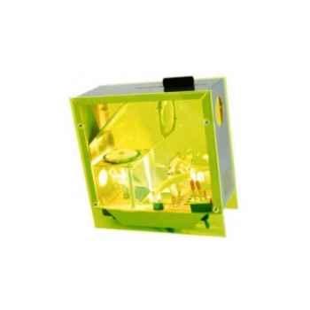 Horloge projetée Designheure Cubic Vert Fluo -cugf