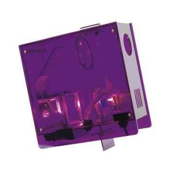 Horloge projetée Designheure Cubic Bleu-violet -cubl