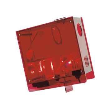 Horloge projetée Designheure Cubic Rouge -curo