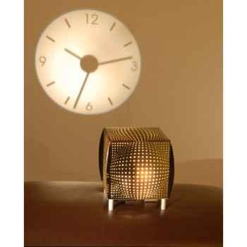 Horloge projetée Designheure Coolheure Alavasa -coal