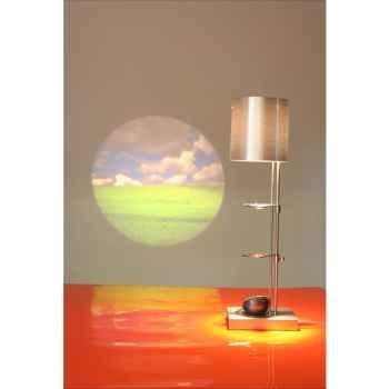 Lampe de table projectrice d'image Designheure Scope Silver -scsi