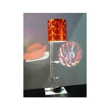 Lampe de table projectrice d'image Designheure Scope Disco Orange -scdo