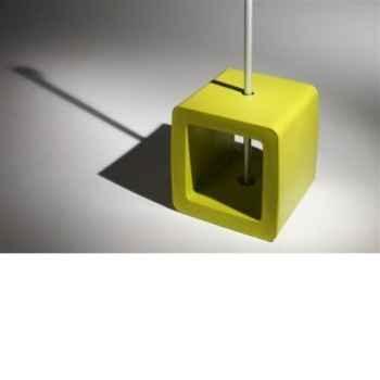 Pied de parasol Sywawa Socle Cube Pouf lime -7122LIME