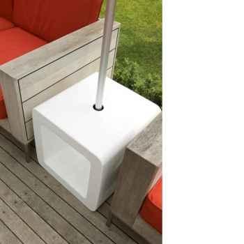 Pied de parasol Sywawa Socle Cube Pouf blanc -7122WHITE