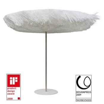 Parasol Sywawa Frou Frou blanc avec pied assorti -3339R003