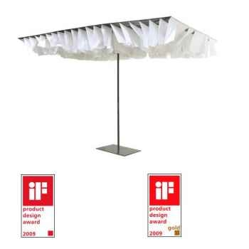 Parasol Sywawa Breezer ardoise et blanc avec pied assorti -7160SV8873