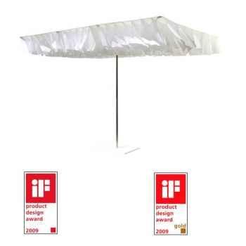 Parasol Sywawa Breezer écru et blanc avec pied assorti -7160SV8860