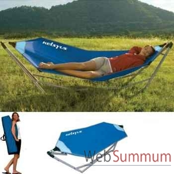 Hamac portable sans broche Kelsyus nouveau modèle colori bleu -80007SP2B