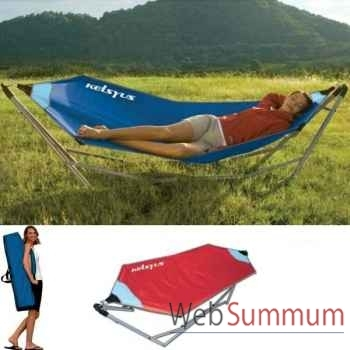 Hamac portable Kelsyus nouveau modèle colori rouge -80056