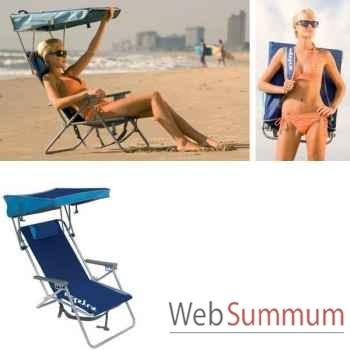Chaise de plage retro avec canopy Kelsyus nouveau colori bleu -80354
