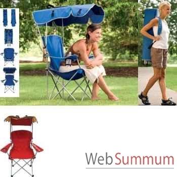 Chaise haute avec canopy Kelsyus colori bleu -80355