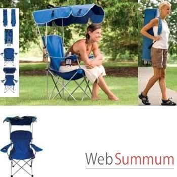 Chaise haute avec canopy Kelsyus nouveau colori bleu foncé -80355BM