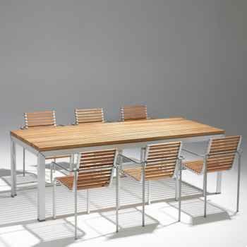 Table ExTempore Extremis Hauteur standard rectangulaire avec rallonge -ET180BB-75
