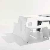 chaise picnik extremis blanc brillant pwb
