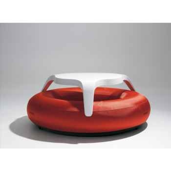 Table DoNuts Extremis avec assise rouge -DTWBR