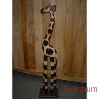 Girafe en bois Animaux Bois Taille 2 -lcdm020