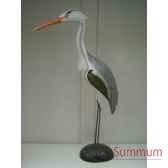 heron en bois animaux bois taille 3 lcdm014