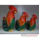 poule en bois animaux bois grand modele lcdm003