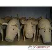 cochon en bois animaux bois lcdm004