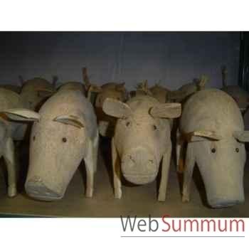 Cochon en bois Animaux Bois -lcdm004