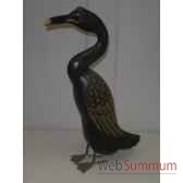 pelican en bois animaux bois vert lcdm017
